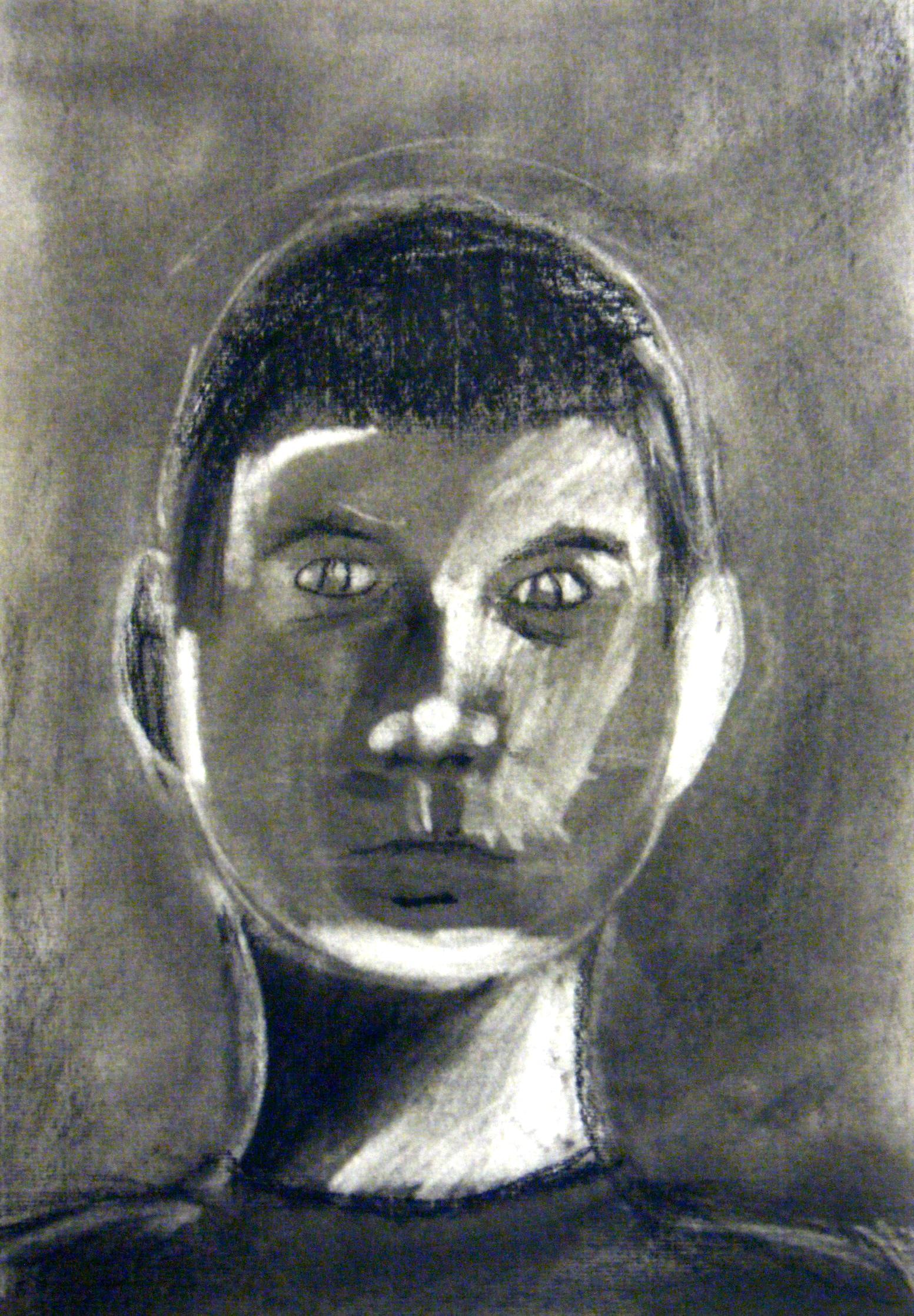 Charcoal Self Portraits Fmsfineart